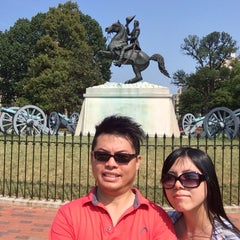 Photo taken at Andrew Jackson Statue by Hubert on 9/3/2015