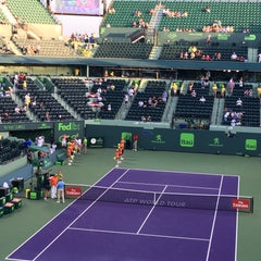 Photo taken at Grandstand Court - Sony Ericsson Open by Graeme R. on 3/31/2016