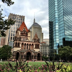 Photo taken at Copley Square by Isabelle S. on 9/6/2013