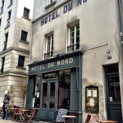 Photo taken at Hôtel du Nord by Isabelle S. on 5/4/2013