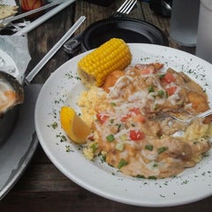 Photo taken at The Folly Beach Crab Shack by Michele R. on 9/30/2012