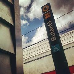 Photo taken at Estação Butantã (Metrô) by Alexandre R. on 4/17/2013