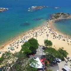 Photo taken at Praia da Costa by Felicio Carriço D. on 12/25/2012