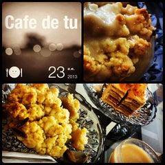 Photo taken at Cream by Café de Tu (ครีม บาย คาเฟ่ เดอ ตู) by Noei N. on 8/23/2013