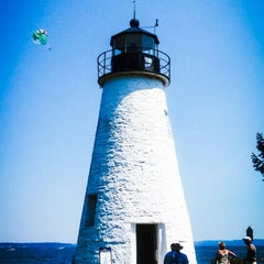 Photo taken at Concord Point and Lighthouse by Beth F. on 8/16/2015