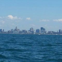 Photo taken at Lake Erie by Bananas on 7/26/2015