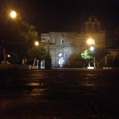 Photo taken at Jardín de San Miguel de Mezquitán by Galileo O. on 11/12/2015