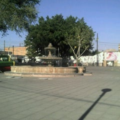 Photo taken at Jardín de San Miguel de Mezquitán by Galileo O. on 4/12/2013