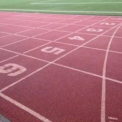 Photo taken at Soccer Field & Running Track ACG-Deree by El M. on 3/22/2015