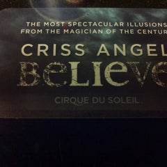 Photo taken at CRISS ANGEL Believe by Frank on 10/25/2012
