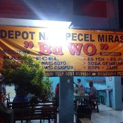 Photo taken at Depot Nasi Pecel Mirasa Bu Wo by Dio P. on 12/26/2014