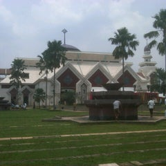 Photo taken at Masjid Agung At-Tin by herlangga o. on 2/8/2013