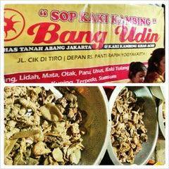 Photo taken at Sop Kaki Kambing Bang Udin by Agatha P. on 2/13/2013