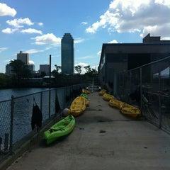 Photo taken at Long Island City Boathouse by Tony C. on 8/4/2013