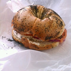 Photo taken at The Bagel Store by Michael T. on 1/21/2013