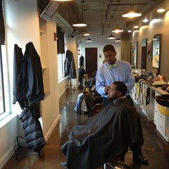 Photo taken at No Grease Barbershop by Andy G. on 1/17/2013