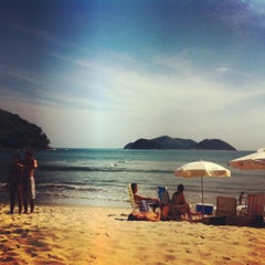 Photo taken at Barra do Sahy by Bruno B. on 10/21/2012