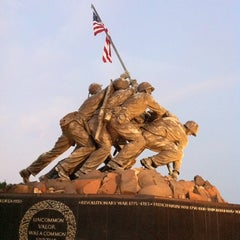 Photo taken at US Marine Corps War Memorial (Iwo Jima) by Cebil R. on 7/26/2011