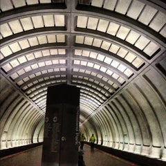 Photo taken at Cleveland Park Metro Station by Jen R. on 11/1/2012