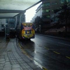 Photo taken at Megabus Birmingham City Centre Stop SH8 & SH9 by Mark B. on 1/14/2013