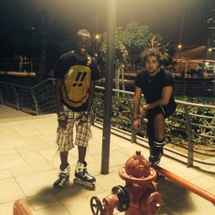 Photo taken at The walk @  Jumairah Lake towers by Boss M. on 8/31/2014