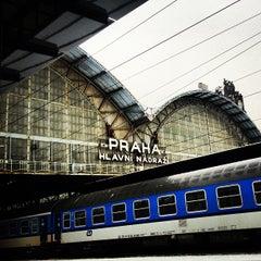 Photo taken at Praha hlavní nádraží | Prague Main Railway Station by kenyatta c. on 1/23/2013