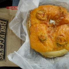 Photo taken at Bruegger's Bagels by Chaos L. on 10/27/2013