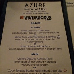 Photo taken at Azure Restaurant & Bar by Elle M. on 2/10/2015