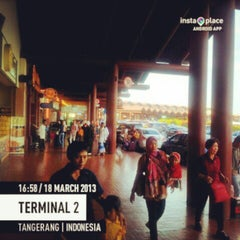 Photo taken at Terminal 2 by Didit P. on 3/18/2013