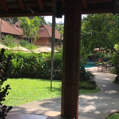 Photo taken at Yaang Come Village Hotel Chiang Mai by Matt M. on 10/24/2015