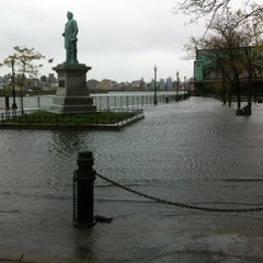 Photo taken at Hoboken, NJ by Kiri M. on 10/29/2012