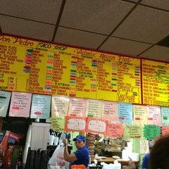 Photo taken at Don Pedro Taco Shop by Daniel P. on 7/19/2014