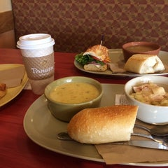 Photo taken at Panera Bread by Marina T. on 4/13/2014