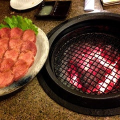 Photo taken at Tajimaya Charcoal Grill by Marisol on 4/30/2013