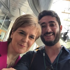 Photo taken at Scottish Parliament by Gabriel A. on 7/1/2015