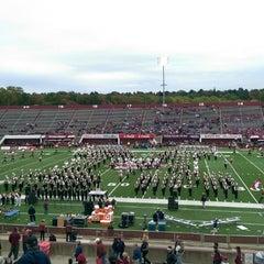 Photo taken at Warren McGuirk Alumni Stadium by Jonathan M. on 10/18/2015