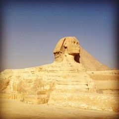 Photo taken at Great Sphinx of Giza | تمثال أبو الهول by Hambali H. on 1/21/2013
