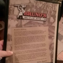 Photo taken at Bruno's Pizza and Big O's Sports Room by Jen M. on 2/22/2014