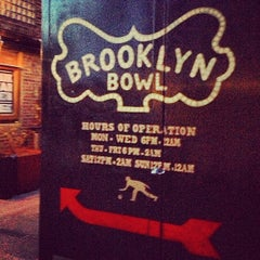 Photo taken at Brooklyn Bowl by Brito D. on 5/1/2013