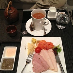 Photo taken at Etihad First Class Lounge by Celia S. on 1/4/2013