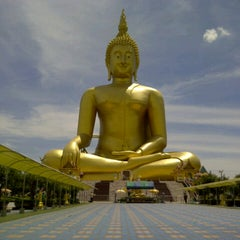Photo taken at วัดม่วง (Wat Muang) by Mickzknell W. on 5/13/2013