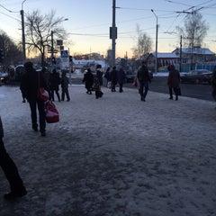 Photo taken at Остановка «Улица Кольцова» by Nikita K. on 12/30/2015