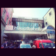 Photo taken at München Hauptbahnhof by ung hung t. on 4/15/2013