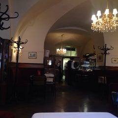 Photo taken at Cafe Frauenhuber by Yeeun S. on 6/13/2014