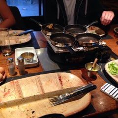 Photo taken at Fondue Huisje Le Bourguignon by Jessica V. on 7/12/2014