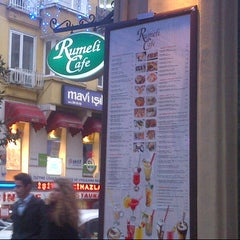 Photo taken at Rumeli Cafe by Zeynep A. on 1/4/2013