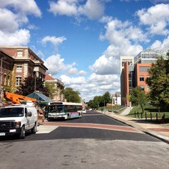 Photo taken at College Place Bus Stop by sam m. on 9/24/2012