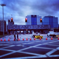 Photo taken at Holland Tunnel by Mike L. on 10/31/2012