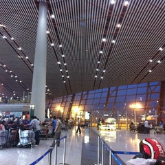 Photo taken at Beijing Capital Int'l Airport 北京首都国际机场 (PEK) by Renata K. on 5/30/2013