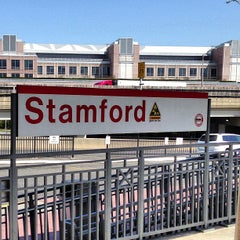 Photo taken at Stamford Transportation Center Bus/Train (STM) Metro North & Amtrak by Brian B. on 4/24/2013